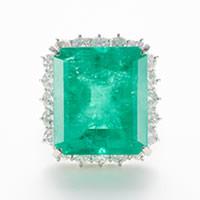 エメラルドリング 【石目】エメラルド28.63ct ダイヤモ…の画像