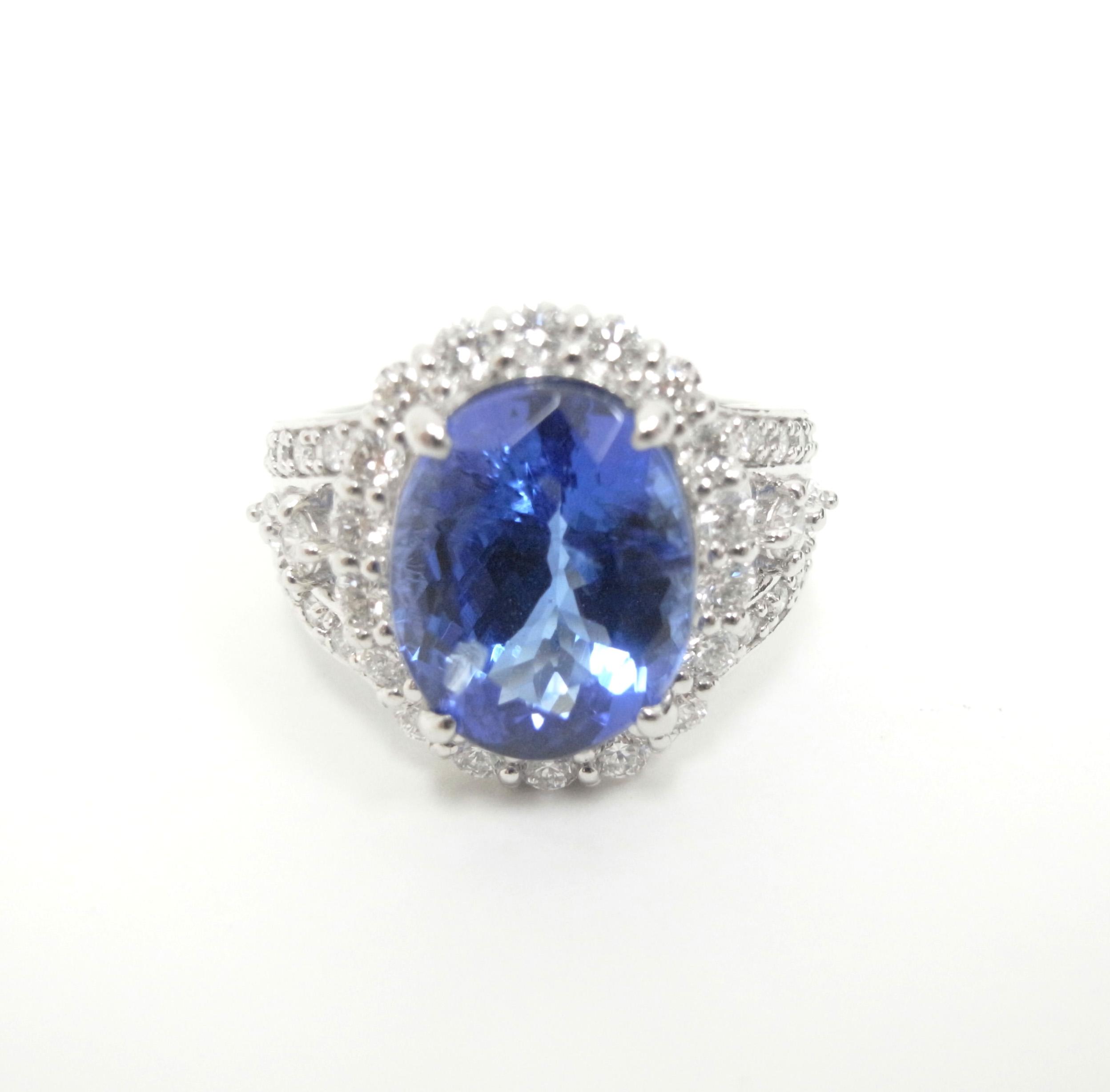 タンザナイトリング 【石目】タンザナイト7.42ct ダイヤ…の画像