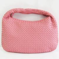 ワンショルダーバッグ イントレチャート ラムスキン ピンク …の画像