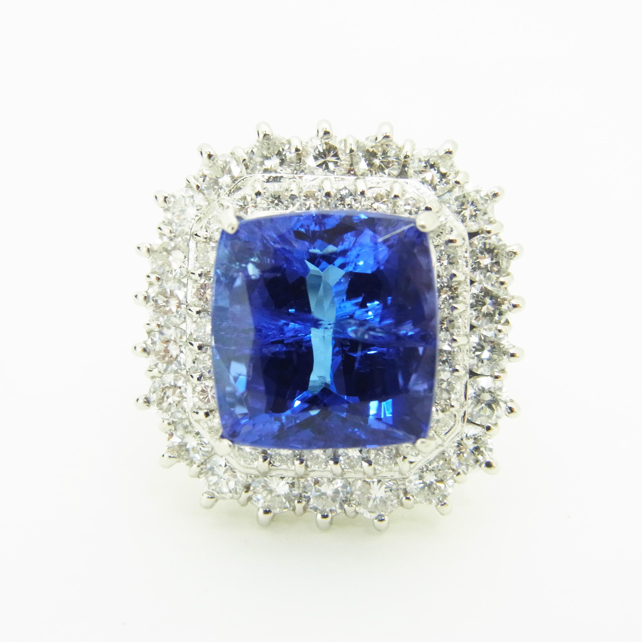 タンザナイトリング 【石目】タンザナイト8.87ct ダイヤ…の画像