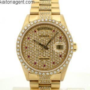 size 40 ce216 26a29 ロレックスのデイデイトモデル!アフターダイヤモンドを買取しま ...