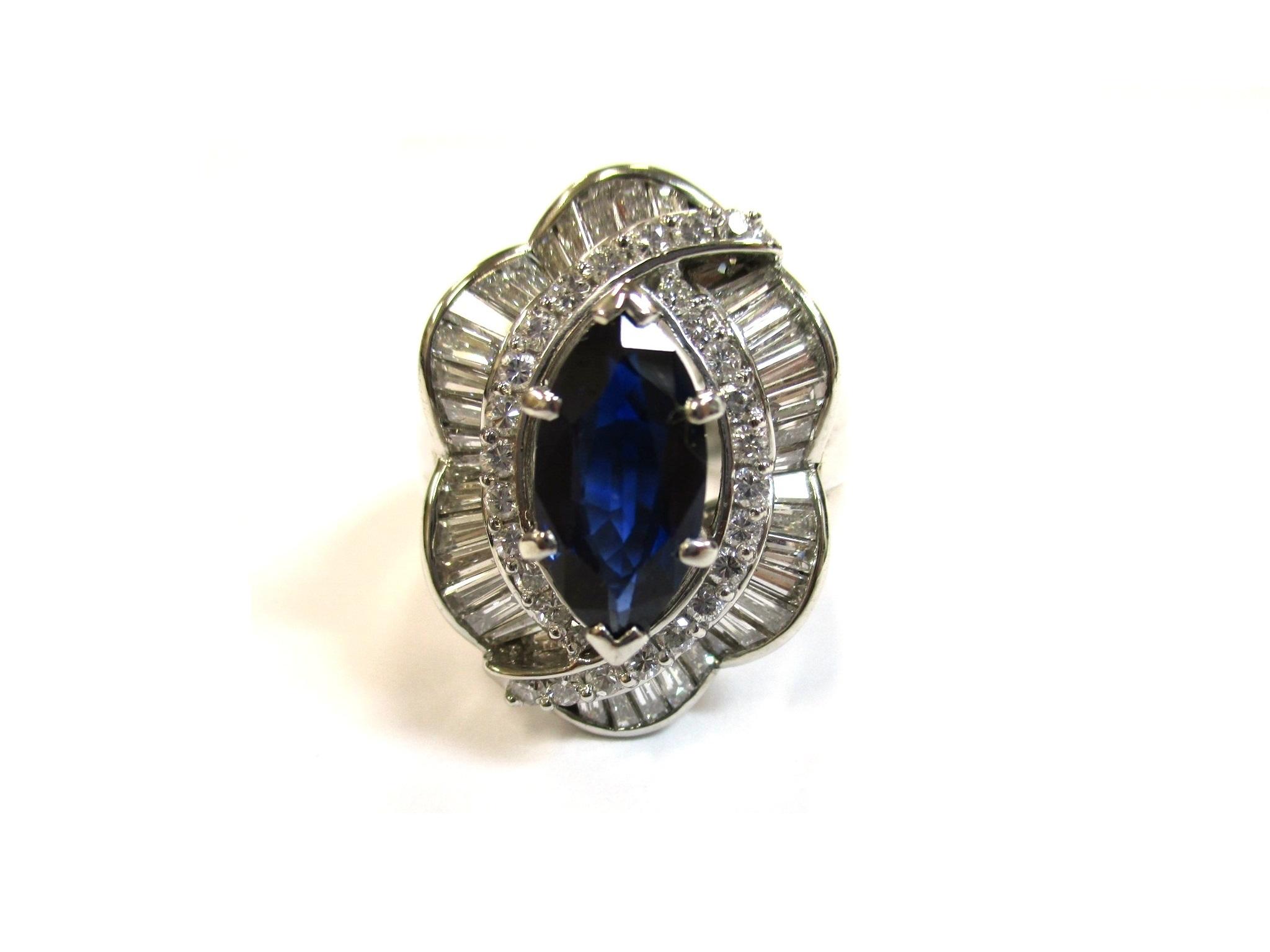 【形状】指輪 【素材】プラチナ 【宝石】サファイア・ダイ…の画像