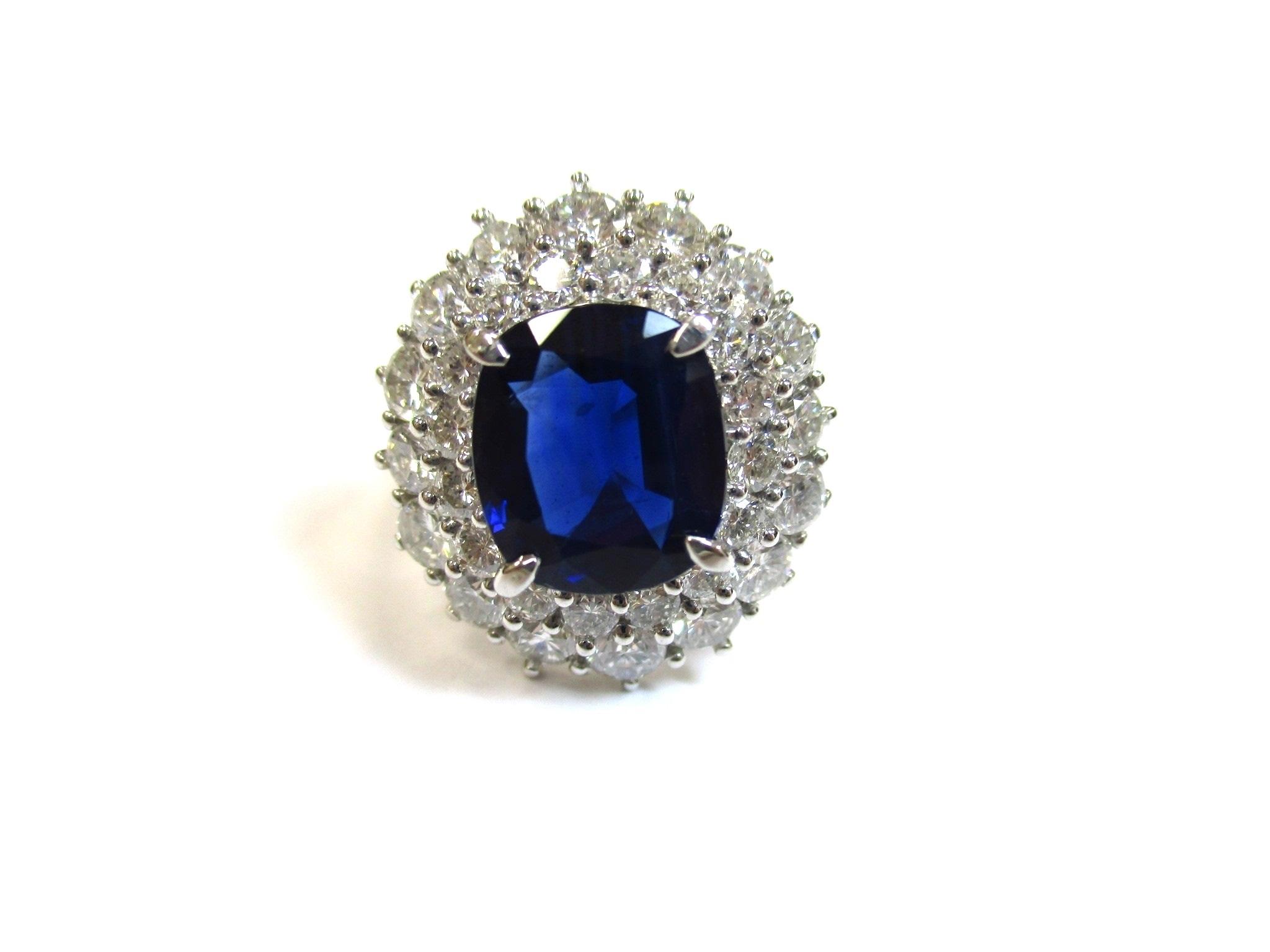 【形状】リング 【宝石】サファイア/ダイヤモンド 【素材…の画像