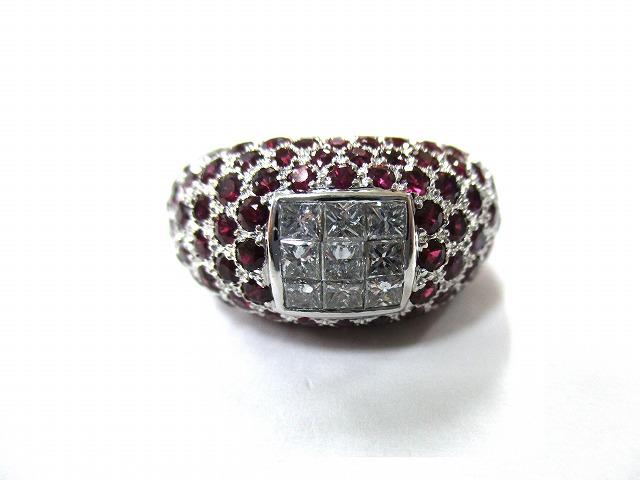 【主石】ルビー 【脇石】ダイヤモンド 【形状】リング …の画像