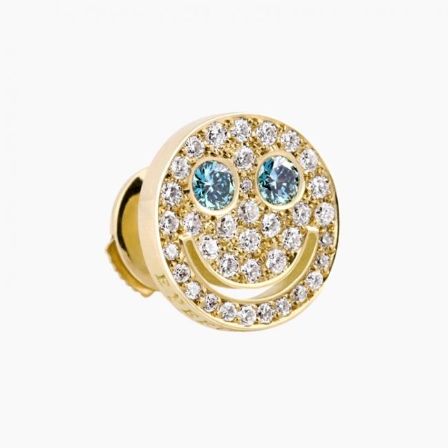 「 ダイヤモンド スマイル S ブルーアイズ ピアス」のイメージ画像