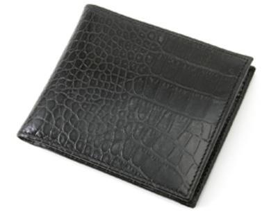 「二つ折り財布 クロコ(小銭入れ付き)」のイメージ画像