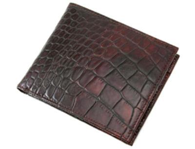 「二つ折り財布 クロコ(小銭入れなし)」のイメージ画像