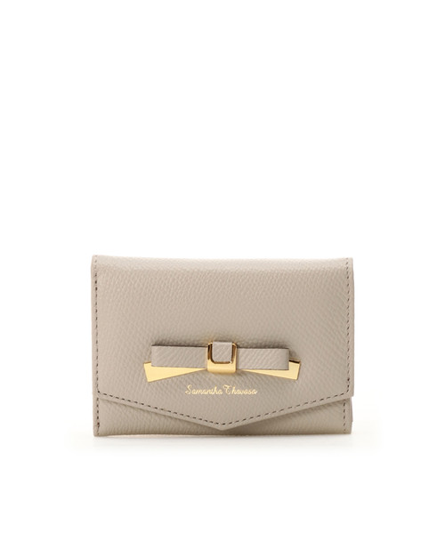 「リボン金具折財布」のイメージ画像