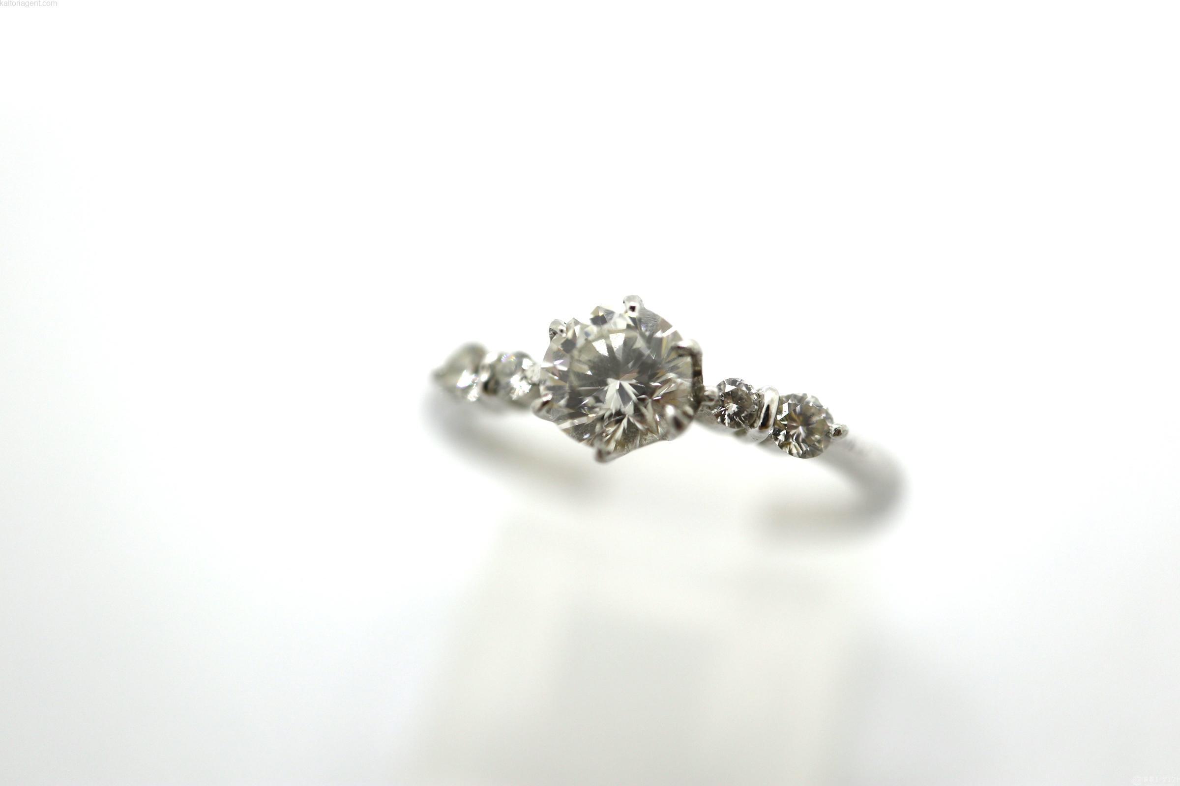 【宝石】ダイヤモンド(0.20/0.12ct) 【形状】リ…の画像