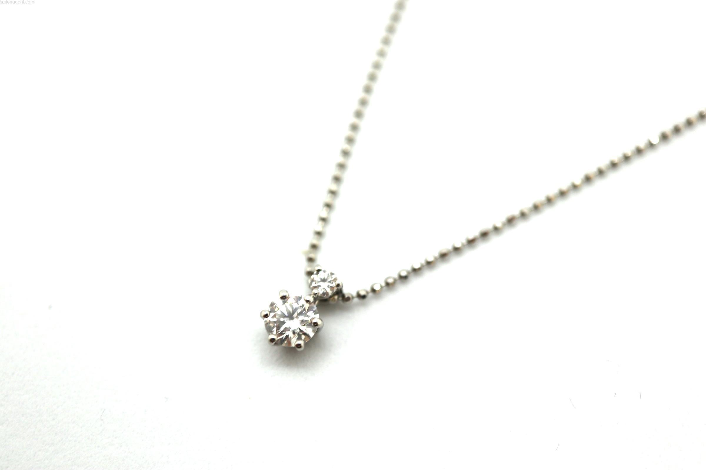 【素材】プラチナ 【主石】ダイヤモンド 【形状】ネックレ…の画像