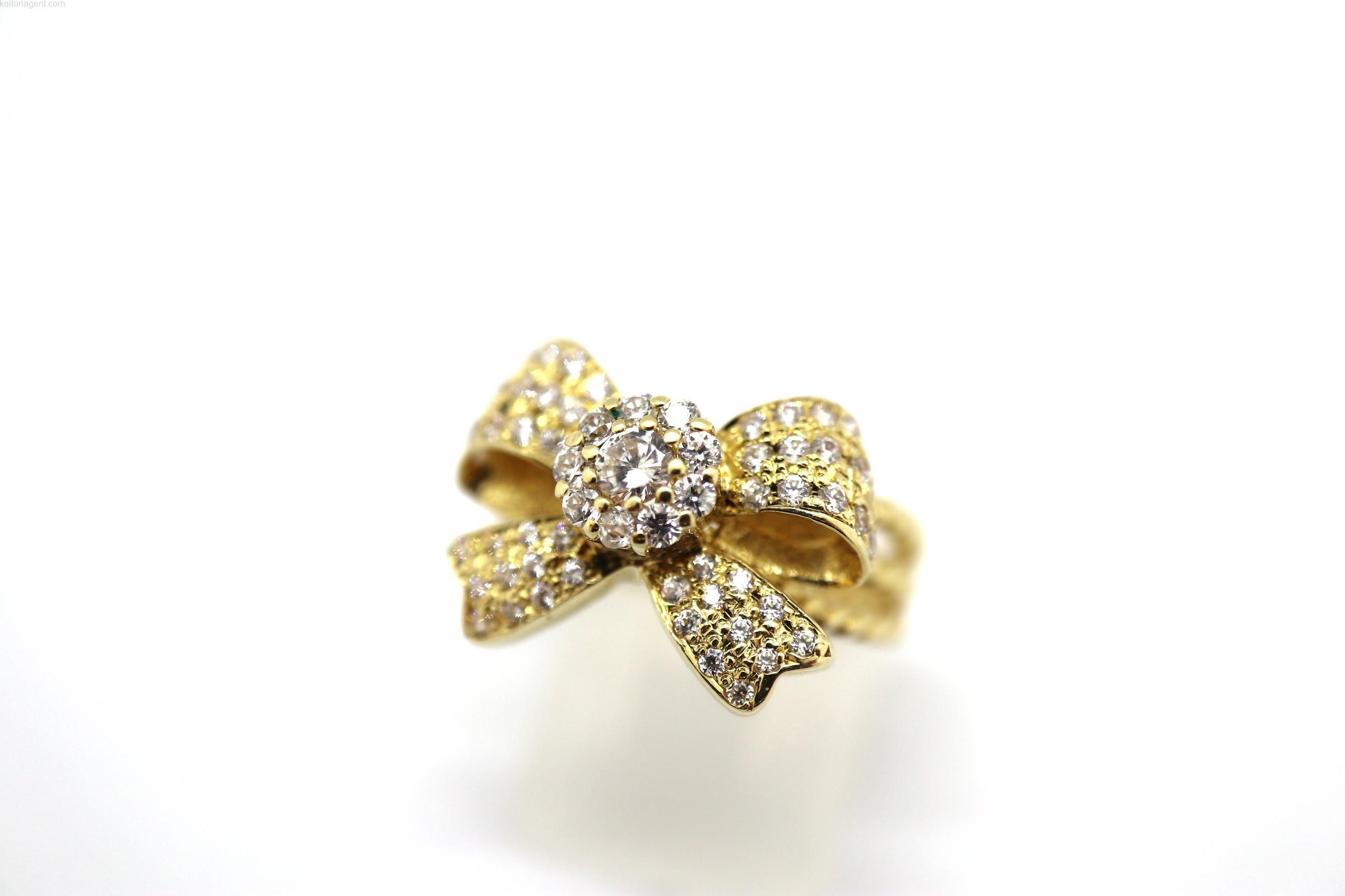【素材】18金  【主石】ダイヤモンド 【形状】リングの画像