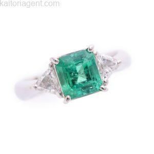 銀座店で買取したエメラルドの指輪