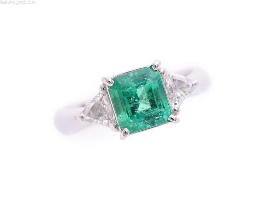 【主石】 エメラルド1.69ct 【脇石】 ダイヤモンド0…の画像