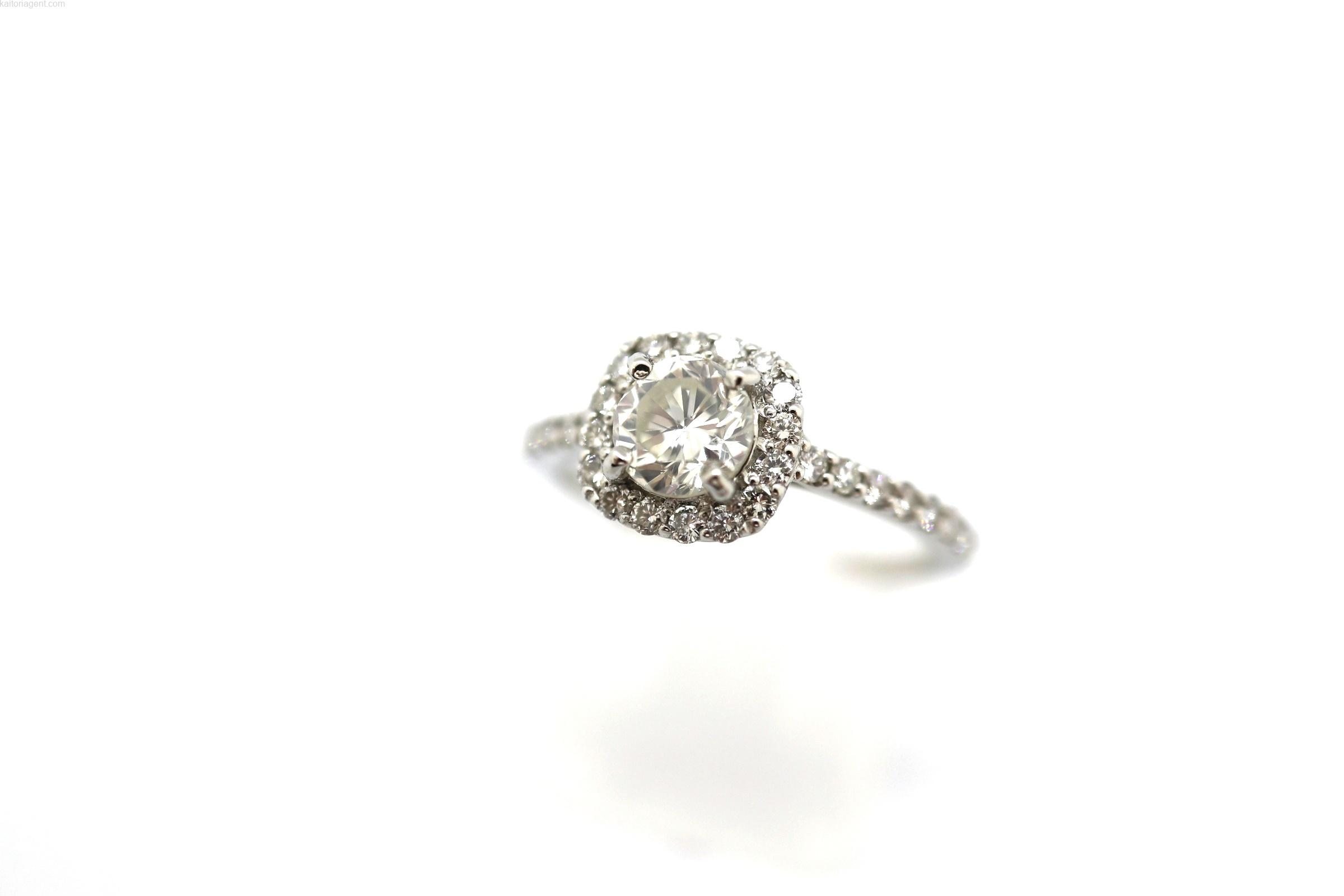 【素材】プラチナ 【主石】ダイヤモンド 【形状】リング…の画像
