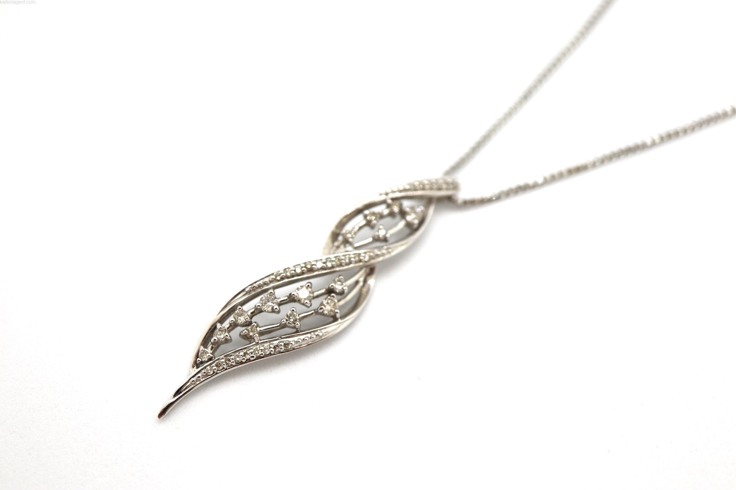 【形状】ネックレス 【主石】ダイヤモンド 【素材】ホワイ…の画像