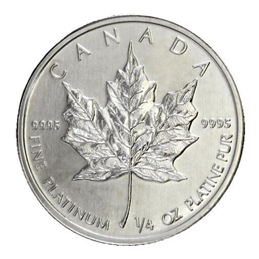 「プラチナメイプルリーフコインの純度や重さの種類」のイメージ画像