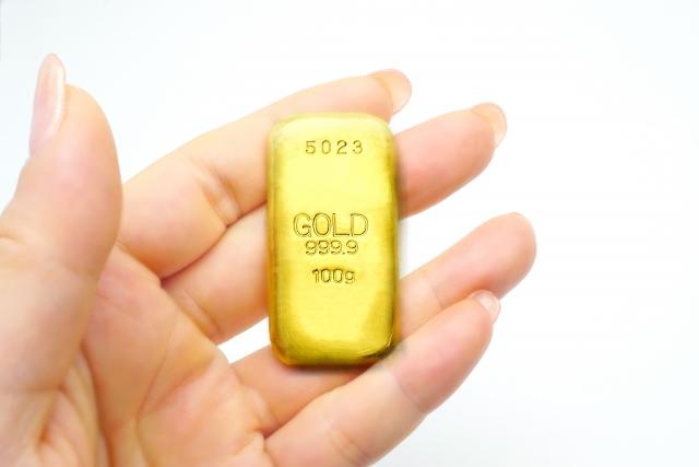金のインゴット刻印