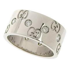 「アイコンリング ワイド ダイヤモンド K18×ダイヤモンド」のイメージ画像
