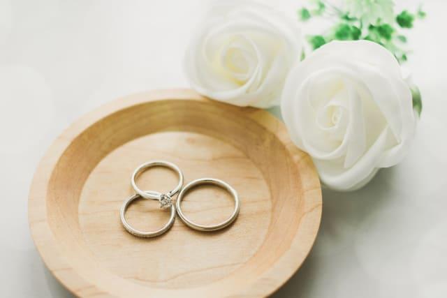 銀白色の指輪イメージ