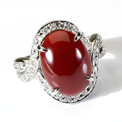 血赤珊瑚 指輪