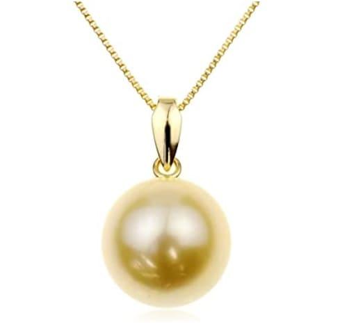 「金色の白蝶貝から採れる「ゴールデンパール」」のイメージ画像