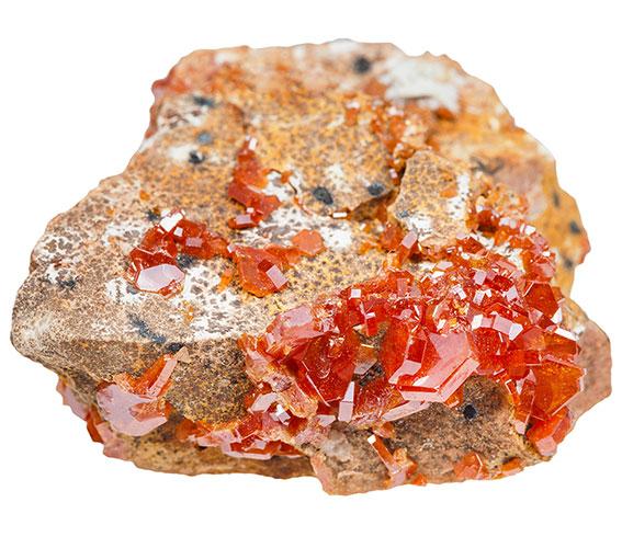 「赤い色の宝石.19「バナジナイト」」のイメージ画像
