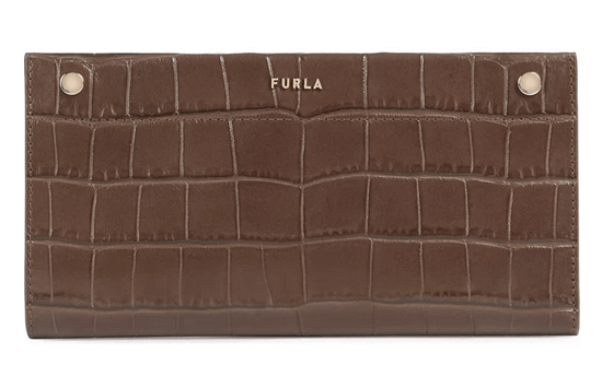 「【FURLA LADY M】存在感あるクロコ調長財布」のイメージ画像