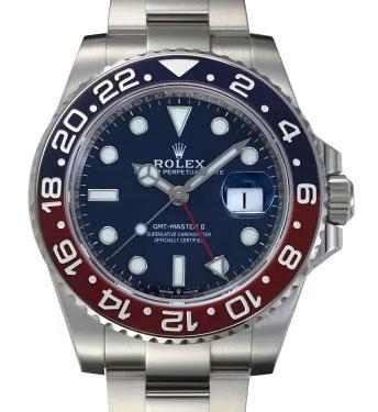 「11位:GMTマスターⅡ 126719BLRO ブルー文字盤|買取価格5,135,000円」のイメージ画像